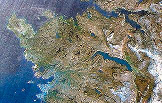Assynt from space